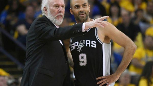NBA: Popovich un peu mélancolique après les départs de Ginobili et Parker