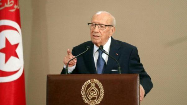 Le président tunisien Béji Caïd Essebsi, le 13 août 2018 à Tunis