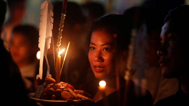 Cambodia's Festival of the Dead: rice offerings and Buddhist chants