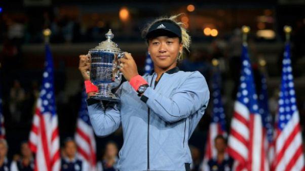 Naomi Osaka savoure son sacre à l'US Open, le 8 septembre 2018 à New York