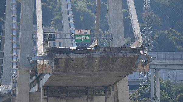 Crollo ponte, due mesi per i periti