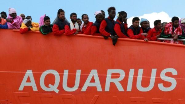 Aquarius: la France accueillera 18 migrants, l'Espagne et l'Allemagne 15, le Portugal 10