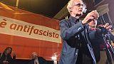 Canfora a manifestazione antifascista