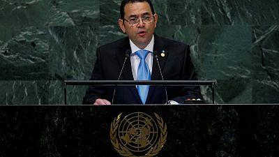 Guatemala's president says U.N. anti-graft body is threat to peace