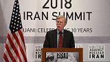 بولتون يقول أمريكا ستفرض العقوبات على إيران بقوة وحزم