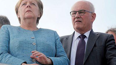 German conservatives' new floor leader downplays blow to Merkel