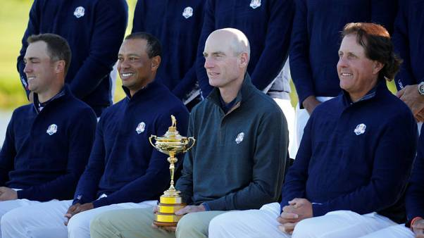Furyk dampens Woods-Mickelson partnership speculation