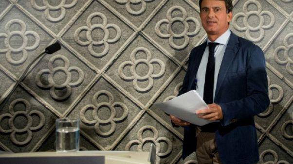 """Candidat à Barcelone, Valls veut incarner la """"nouvelle Europe"""""""