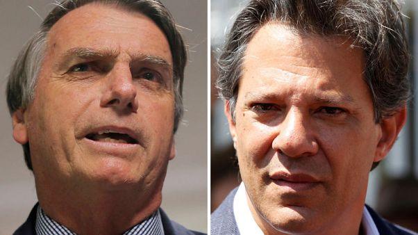 Brazil opinion poll shows Bolsonaro leads Haddad by 6 points