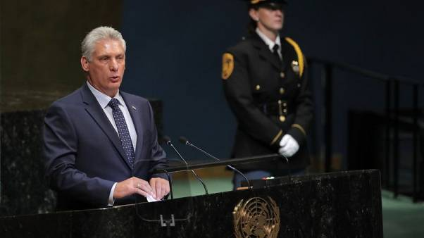 Cuba's president tells U.N. will continue Castro brothers' project