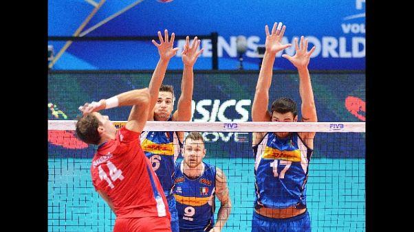 Mondiali volley: Italia-Serbia 0-3