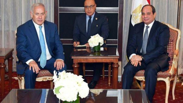 Rencontre entre Netanyahu et Sissi en marge de l'ONU