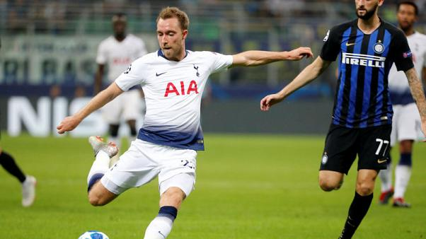 Tottenham's Eriksen ruled out of Huddersfield game