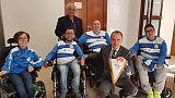 Lega Pro a sostegno calcio in carrozzina