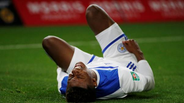 Leicester's Gray faces spell out with ankle sprain