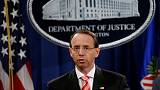 Trump and deputy attorney general Rosenstein delay meeting to next week