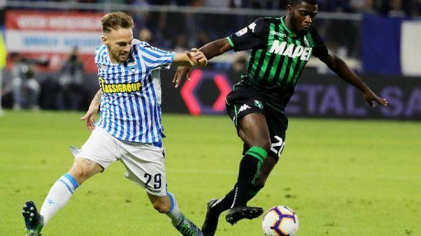 Serie A: Spal-Sassuolo 0-2