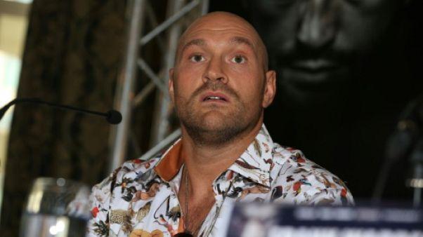 Le boxeur britannique Tyson Fury,le 6 juin 2018 à Manchester
