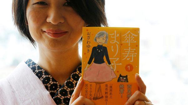 Manga comics turn grey - but spirited - along with readers