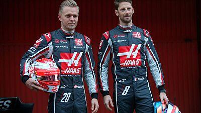 Motor racing - Haas retain Grosjean, Magnussen for next season