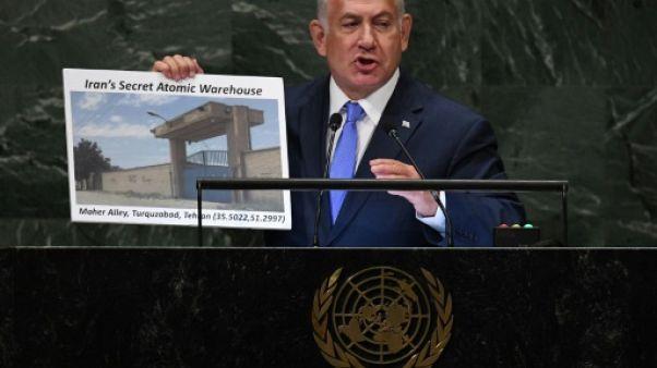 """""""Site atomique secret"""": l'Iran rejette le """"show"""" de Netanyahu à l'ONU"""