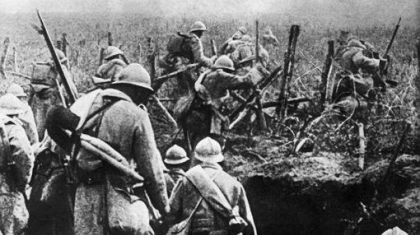 Des soldats français en novembre 1916 à Verdun