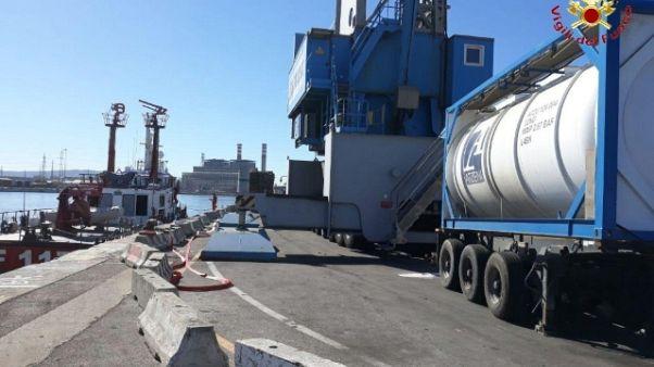 Perdita ipoclorito sodio a porto Livorno