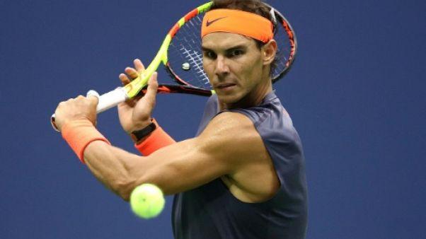 L'Espagnol Rafaël Nadal en demi finale de l'US Open le 7 septembre 2018