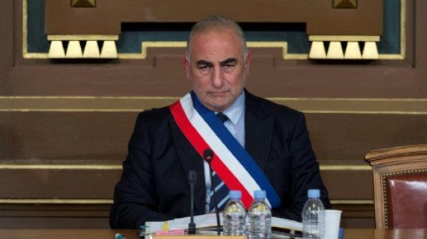 Le maire de Lyon Georges Képénékian après son élection le 17 juillet 2017