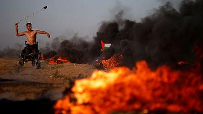 Palestinians say three killed as Israeli troops fire on Gaza protest