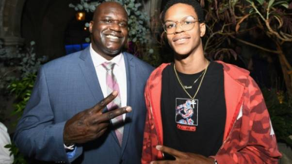 Shaquille O'Neal et son fils Shareef le 7 août 2017 à Hollywood