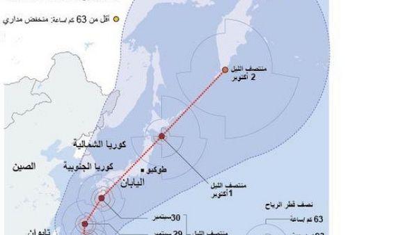 إعصار قوي يقترب من جنوب اليابان ويتجه للجزيرة الرئيسية