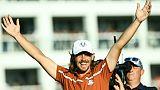 Ryder Cup: l'Europe mène 10 à 6 face aux Etats-Unis, Woods encore battu