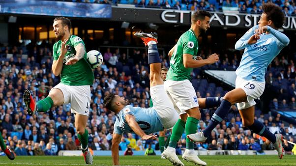 Blues cruise as Aguero and Sterling strike