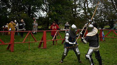 Knight fever! Irish village transformed into medieval battlefield
