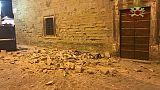 Crollato intonaco duomo Città Castello