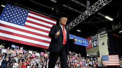 Trump uses Kavanaugh delay as rallying cry for midterm elections