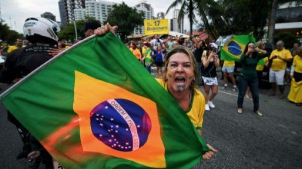 Un supporter de Jair Bolsonaro à Rio de Janeiro le 29 septembre 2018