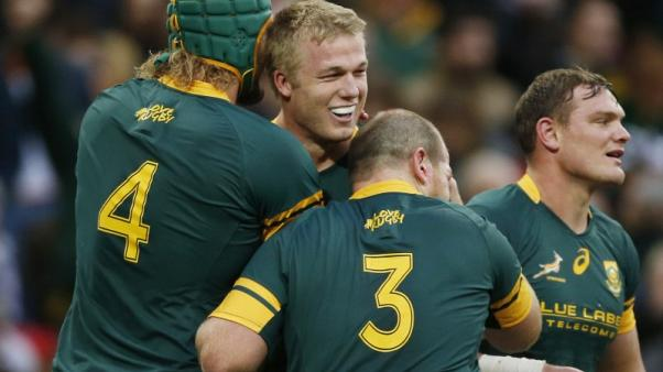 Rugby - Du Toit hails improved Springboks defence ahead of All Blacks test