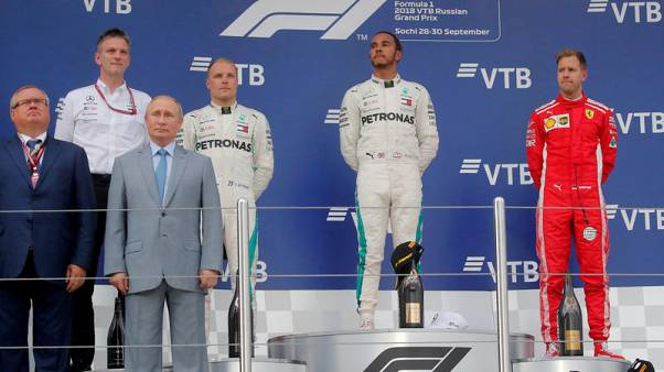 Motor racing - Hamilton wins in Russia to go 50 points clear