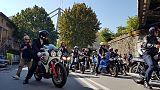 A Certosa 500 bikers, visita a sfollati
