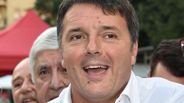 Renzi, tutti sostengano nuovo segretario