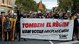 Catalogne: actions coup de poing pour l'anniversaire du 1er octobre