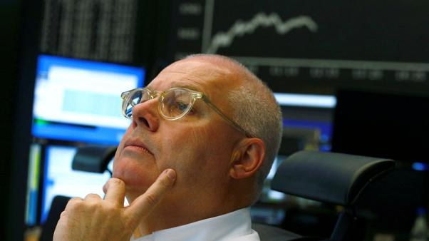 European shares lower as pressure builds on Italian banks