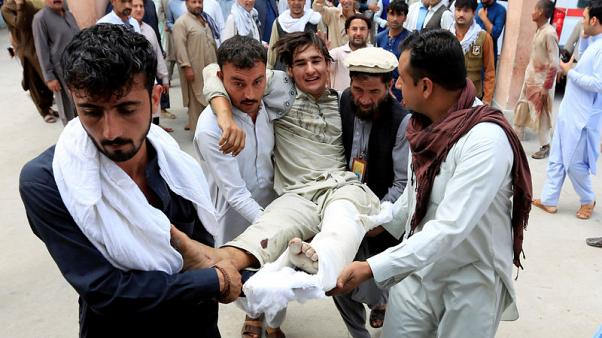 Carnage at Afghan election rally as suicide bomber strikes