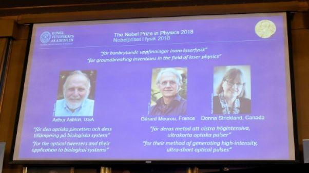 Le Nobel de physique à trois pionniers des lasers