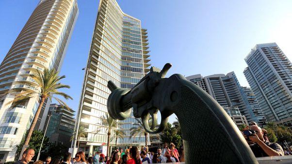 """الكشف عن نحت """"اللاعنف"""" في بيروت"""