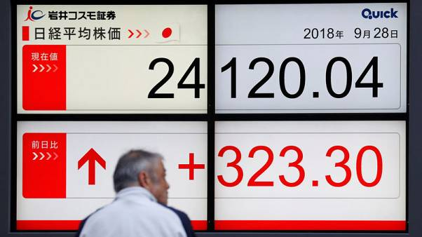 Asian shares ease, euro near 6-week lows on Italian woes; gold jumps