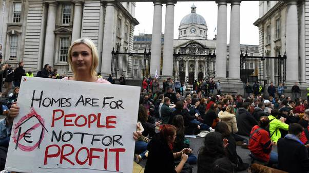 Thousands march on Irish parliament in growing housing shortage protest