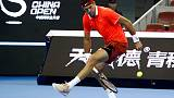 Del Potro powers on in Beijing as Dimitrov bows out
